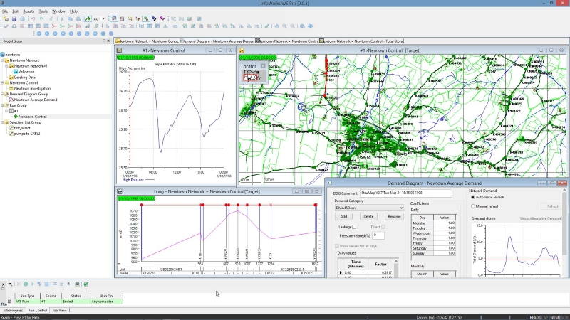 InfoWorks WS Pro interface