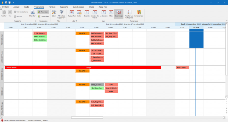 Mobile office calendrier